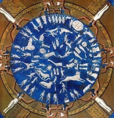 Pleiades - Dendera zodiac Temple of Hath or City 0f Denera 2500BC Pleiades centre of zodiac - Google search