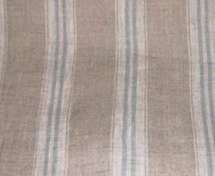 Duck egg striped linen