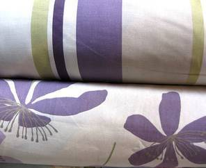 Passion Flower and Finlay Stripe Cassis SALE