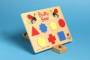 Buzzy Bee Wooden Puzzle - Shapes + Colours