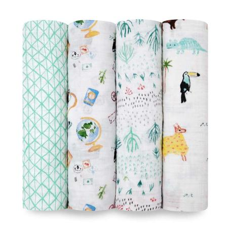 Aden + Anais Muslin Swaddles 4pk - Around The World