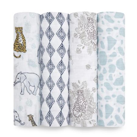 Aden + Anais Muslin Swaddles 4pk - Jungle