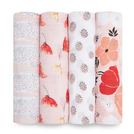 Aden + Anais Muslin Swaddles 4pk - Picked For You