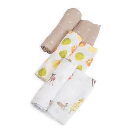 Little Unicorn 3pk Cotton Muslin Swaddle - Oh Deer