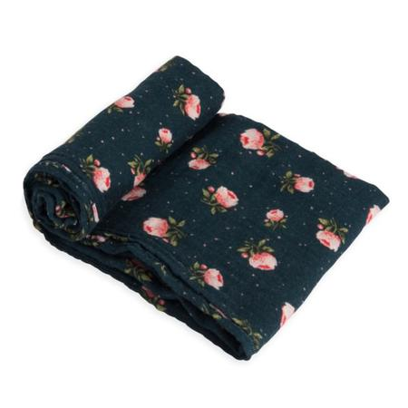 Little Unicorn Single Cotton Muslin Swaddle - Midnight Rose