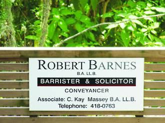 Robert Barnes Barrister & Solicitor