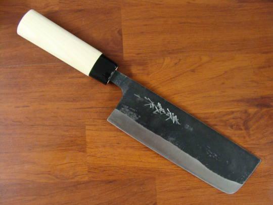 Buy Kaneyoshi Japanese Kurouchi Nakiri Kitchen Knife 165mm At Blade Master