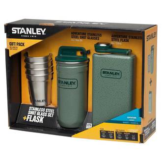 buy stanley adventure steel shots flask gift set at blade master. Black Bedroom Furniture Sets. Home Design Ideas