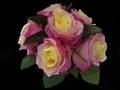 Rose Posy - 5 Colours - Diamante Handle