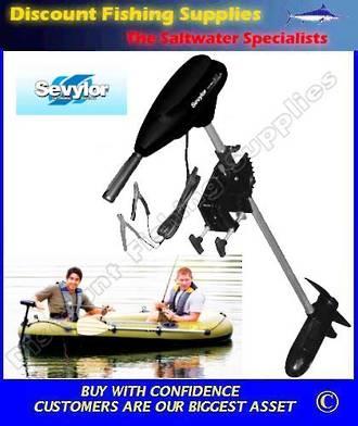 Sevylor sbm30 12v electric trolling motor 30 lbs thrust for Cheap saltwater trolling motor