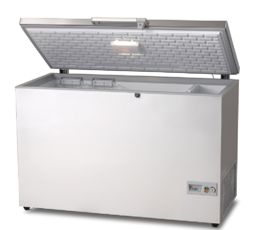 01588 Chest Freezer Hf 396 Stainless Steel Lid Silver