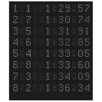 Omega Piccolo White Swimming Scoreboard Cat Name