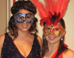 Dream of Italy masks at a ball in Auckland