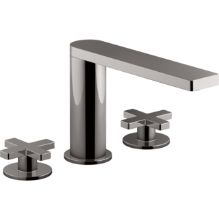 Composed 3TH Basin Set with Cross Handles Titanium
