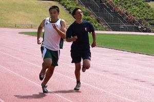 Daniel Adams - 100m, 200m finalist & 1st JB Discus