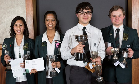 Dux Artium and runners-up Sarai MacKay, Gauri Prabhakar, Dylan Goodisson