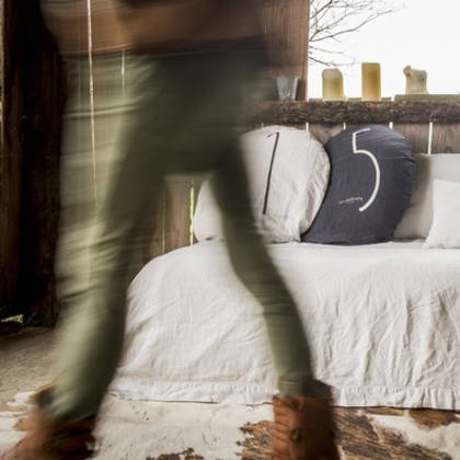 Bed & Philosophy pure linen Flat Sheet. Available in 14 colours