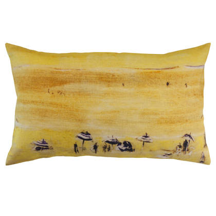 Maison Levy Plage Jaune Cushion 50 x 30cm (available to order)
