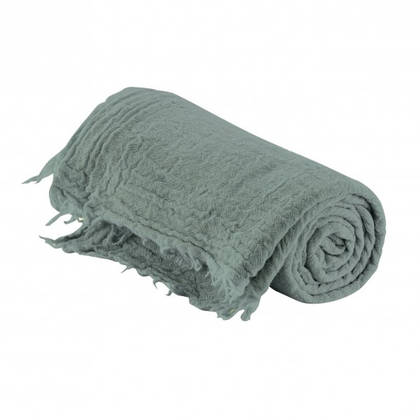 Italian Pure Merino Wool Throw - Vert de Gris (sold out)