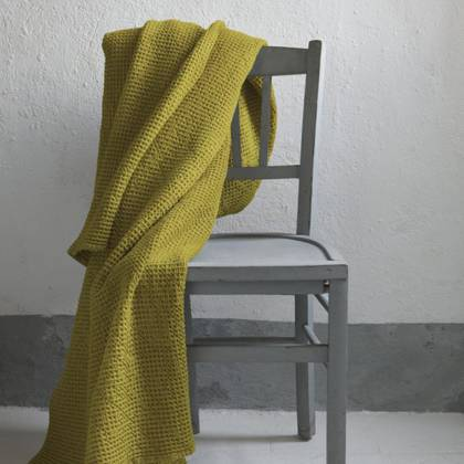 Portuguese Cotton Throw - Yellow (sold out)