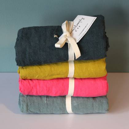 Bed & Philosophy pure linen Pillowcase - Euro Size. Available in 17 colours