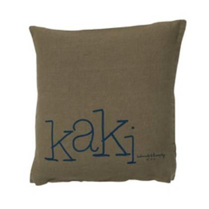Bed & Philosophy pure linen Molly Cushion in Kaki