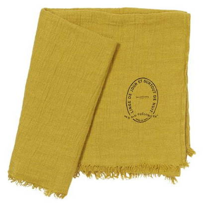 Bed & Philosophy Pure Linen Throw - Curry (available to order)