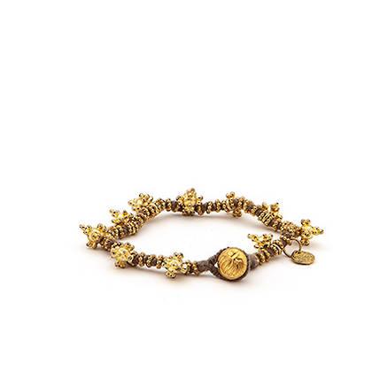 Bracelet Shakti - gold grey