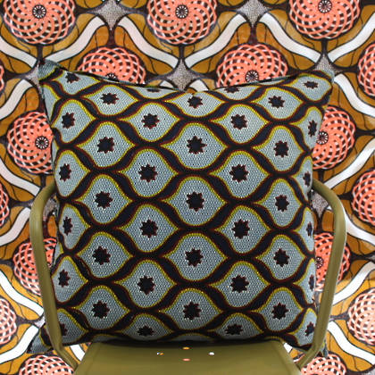 African Wax Print Cushion - Daylight 1 (out of stock)