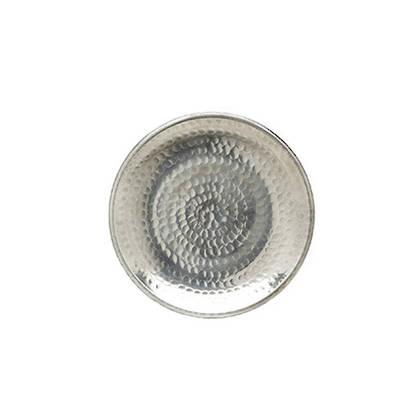 Handbeaten Plate 20cm diamater. Made in India