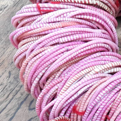 Jokko Bracelets from Mali Africa - set of 6 Pink (sold out)