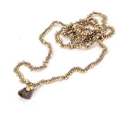 Necklace Shaanti - gold grey
