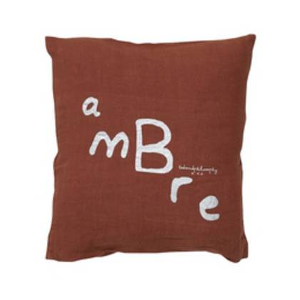 Bed & Philosophy pure linen Molly Cushion in Ambre