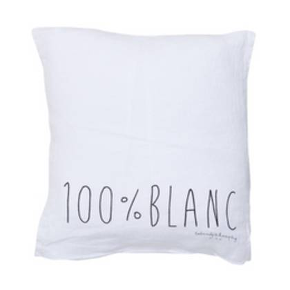 Bed & Philosophy pure linen Molly Cushion in Blanc (due instore April)