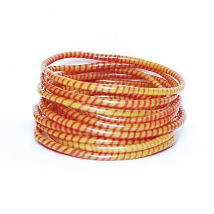 Jokko Bracelets from Mali Africa - set of 6 Ochre (sold out)