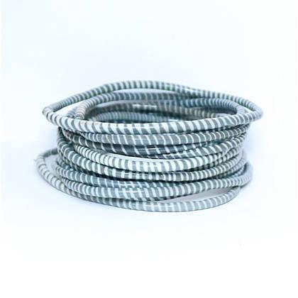 Jokko Bracelets from Mali Africa - set of 6 Dark Grey (sold out)