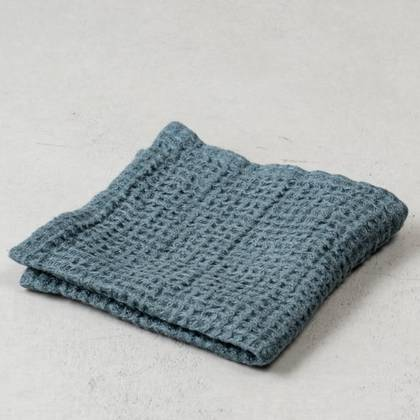 Pure Linen washed waffle Face Cloth - 4 colourways