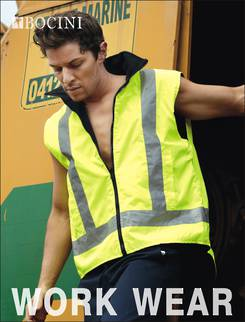 Hi-Vis Reversible Safety Vest with Reflective Tape (Unisex)