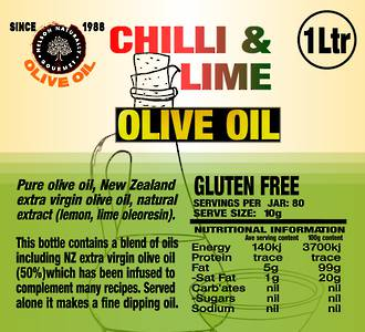 Chilli & Lime Infused Oil (1 litre)