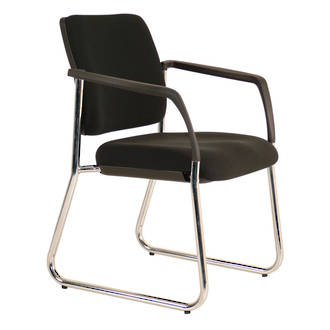 Buro Lindis Visitor Chair Sled with Arms