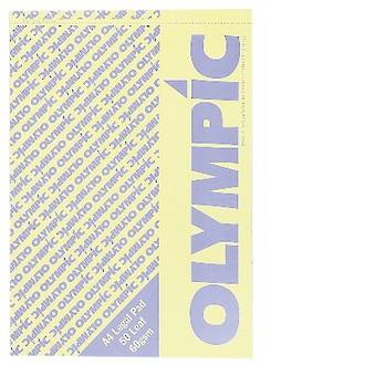 Olympic Legal Pad A4 50 Leaf Yellow
