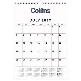 Collins Calendar Month to View 1 July - 30 June