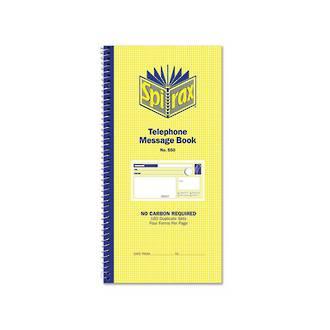 Spirax 550 Telephone Message Book