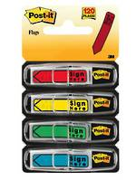 """3M Post-it® Flags, """"Sign Here"""", Primary"""