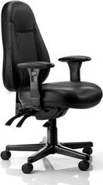Buro Persona 24/7 High Back Black Leather