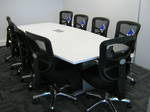 Swift Boardroom 2800x1200/900 White Top (Power Dock extra)
