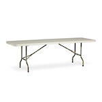 Life Folding Rectangle Table 2.4m - 1 Piece Solid Top