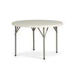 Life Folding Round Table 1.2m - 1 Piece Solid Top