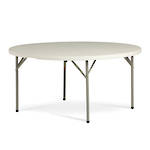Life Folding Round Table 1.5m - 1 Piece Solid Top
