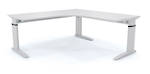 Cubit Aero Adjustable Height and Length Corner Workstation Frame with Custom Top